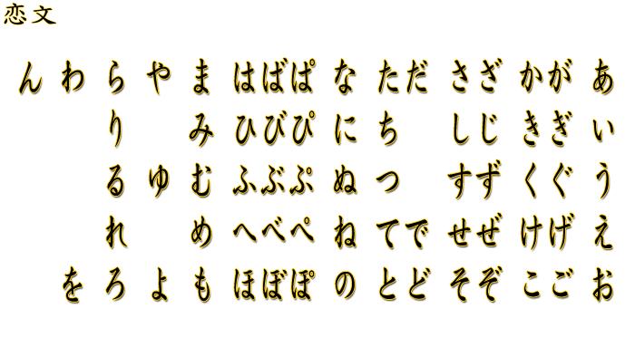 abecedario japones